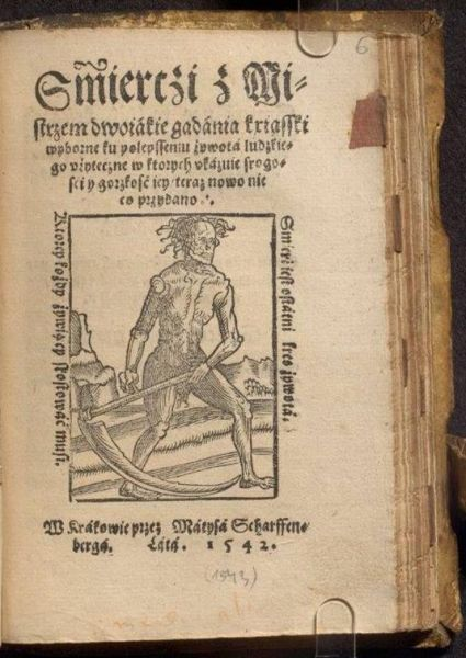 Wydanie tekstu Rozmowy Mistrza Polikarpa ze Śmiercią - strona tytułowa