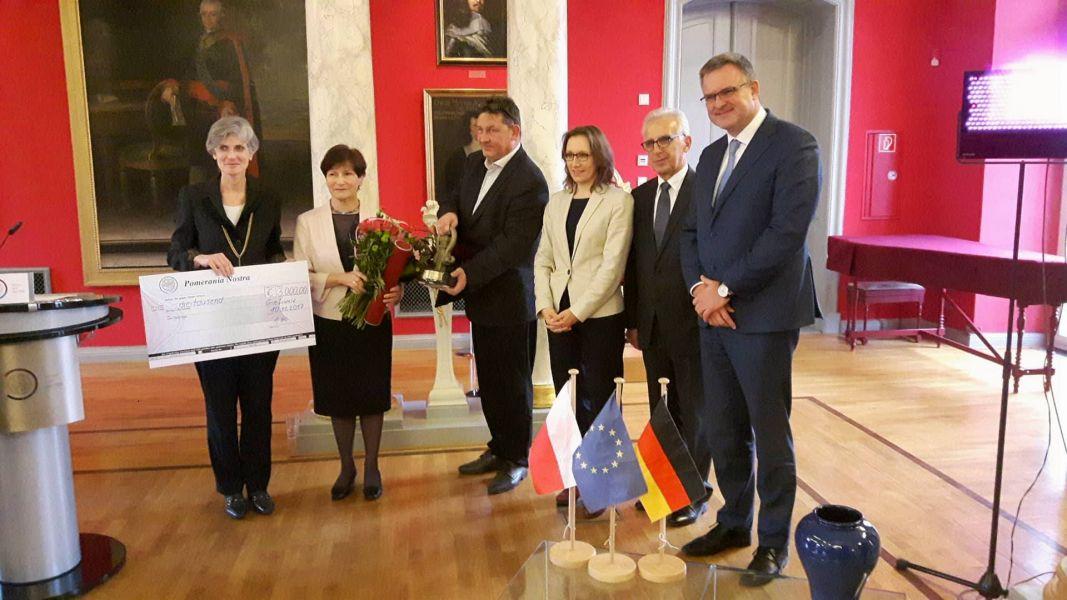 Uroczystość wręczenia Nagrody Pomerania Nostra prof. Annie Wolff-Powęskiej