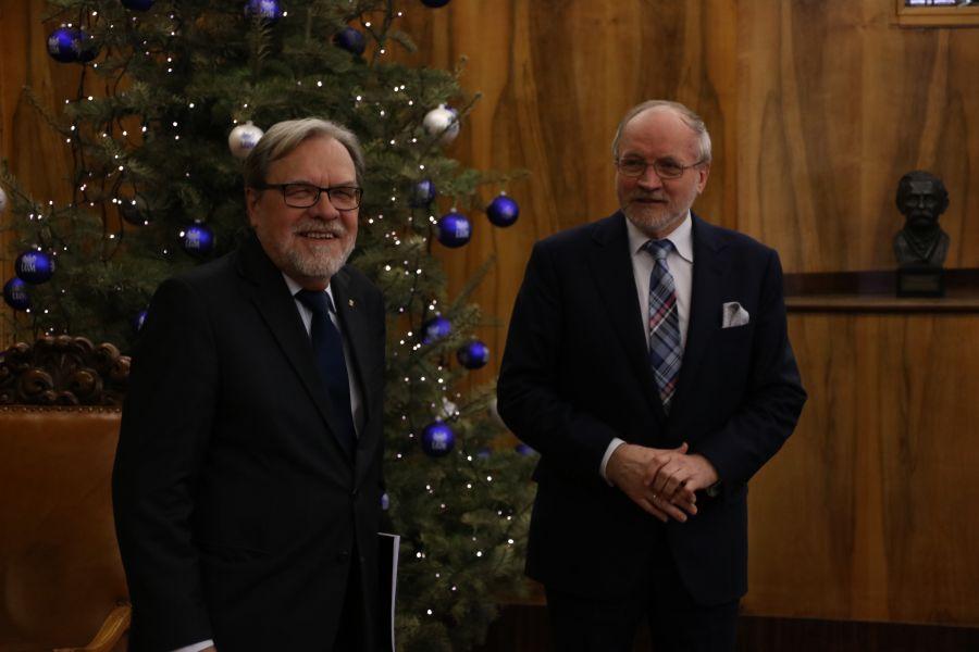 JM Rektor UAM, prof. Andrzej Lesicki oraz Prezes Zarządu Fundacji UAM prof. Jacek Guliński