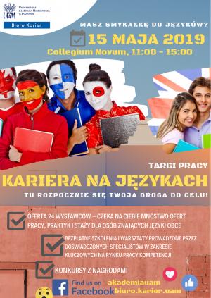 Kariera na językach 2019 – targi pracy dla osób znających języki obce