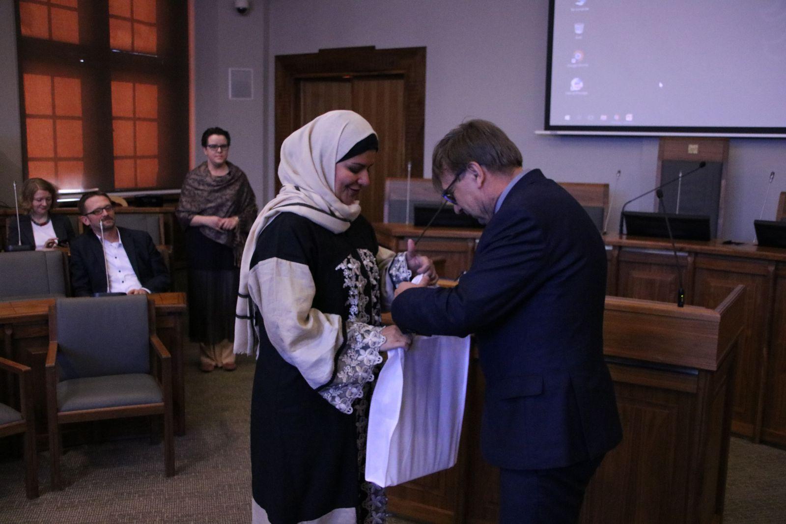 Prof. dr hab. Ryszard Naskręcki podczas spotkania z delegacją z Prince Sultan University z Arabii Saudyjskiej