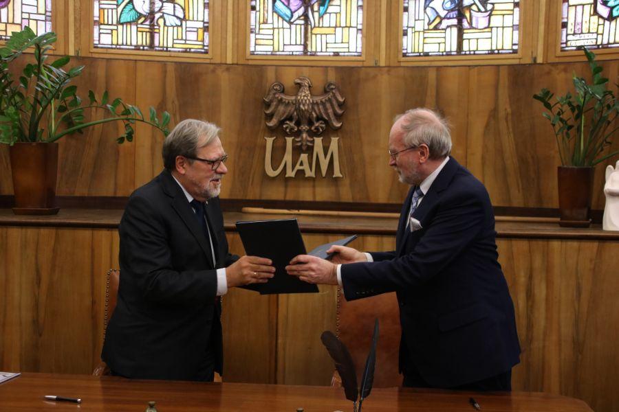 Prof. Andrzej Lesicki oraz prof. Jacek Guliński