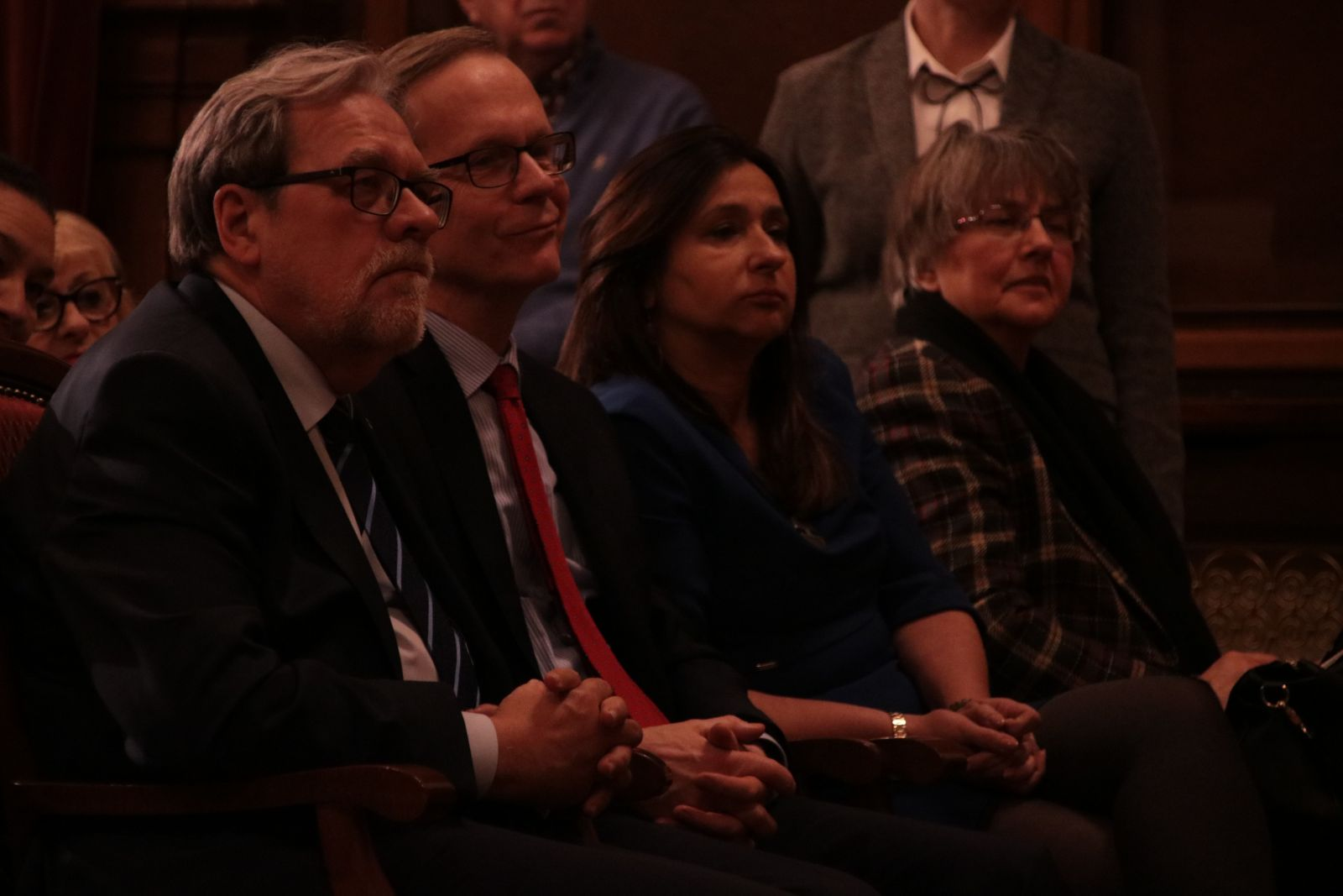 Grono rektorskie podczas debaty