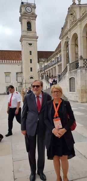 JM Rektor UAM prof. Andrzej Lesicki oraz Prorektor UAM prof. Bogumiła Kaniewska w Coimbrze w Portugalii