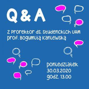Zobacz spotkanie on-line z prorektor ds. studenckich UAM