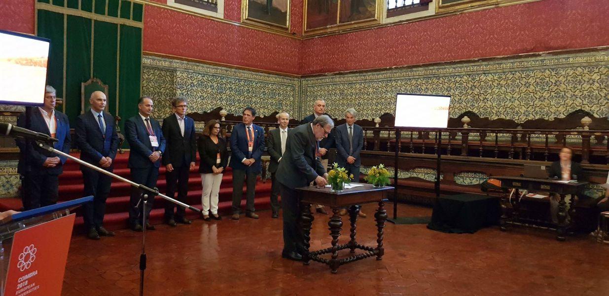 JM Rektor UAM prof. Andrzej Lesicki w Coimbrze w Portugalii