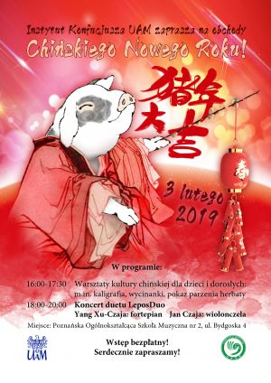 Instytut Konfucjusza UAM zaprasza na obchody Chińskiego Nowego Roku