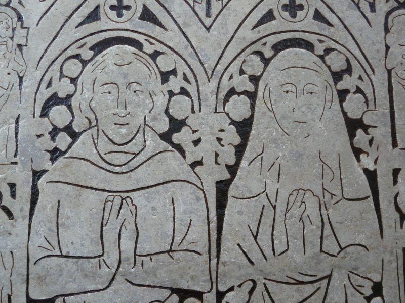 Średniowieczna płyta nagrobna małżeństwa Rabenstorpów