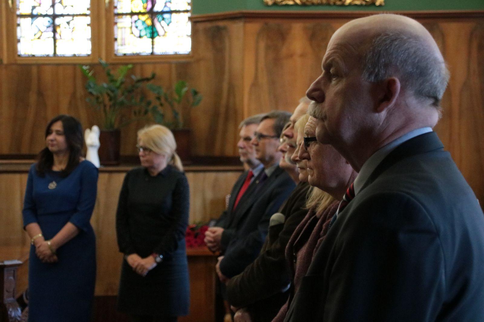Grono rektorskie podczas uroczystości wręczenia medalu Alumno Bene Merenti