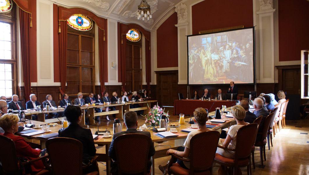 Spotkanie poświęcone było przedyskutowaniu zasad przyszłej ewaluacji działalności naukowej uczelni