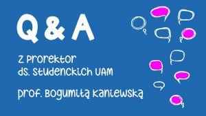 Weź udział w spotkaniu on-line z prorektor ds. studenckich UAM
