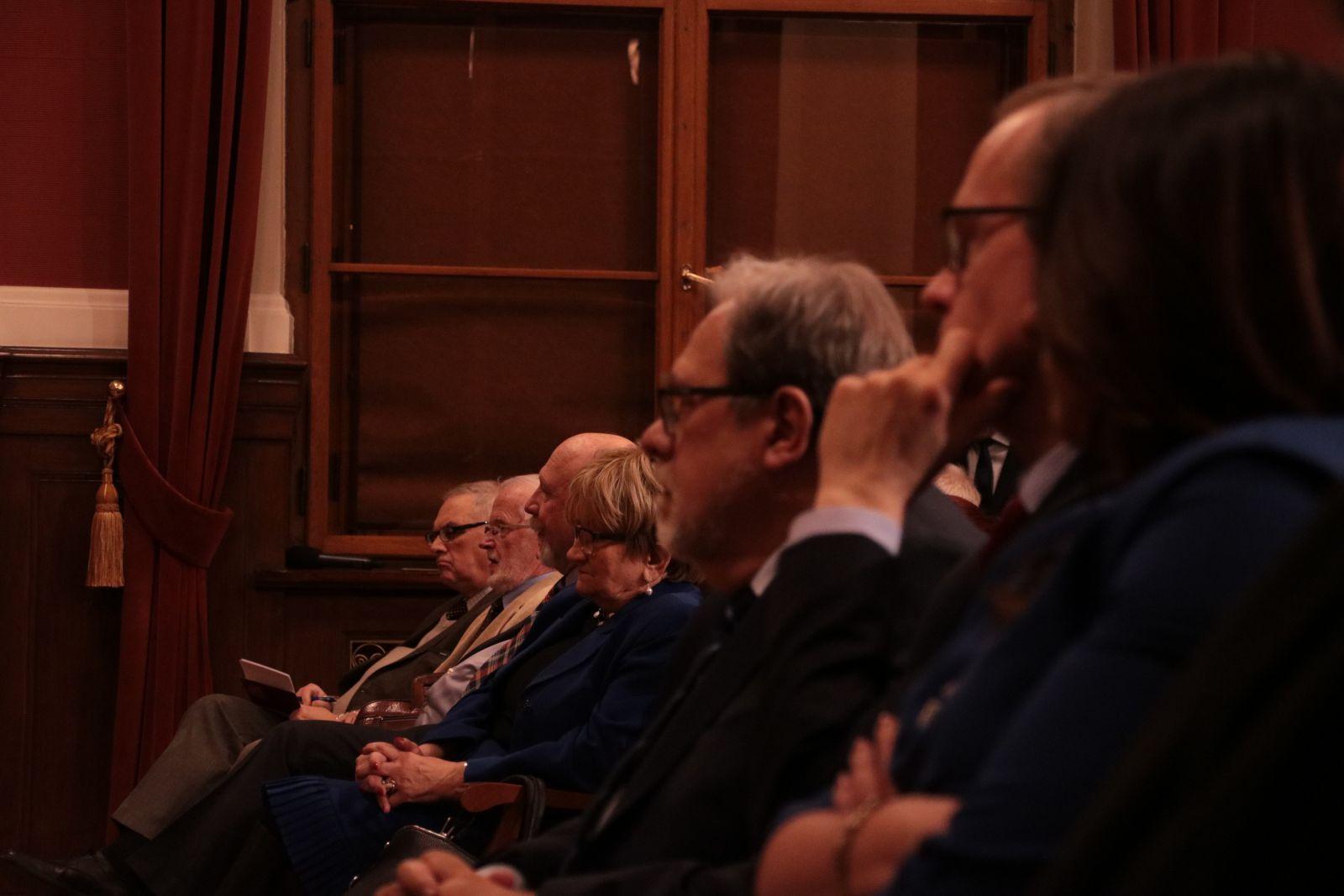 Rektor UAM, prof. Andrzej Lesicki podczas debaty