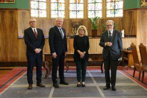 Rektor Uniwersytetu Albrechta i Ludwika we Fryburgu z pożegnalną wizytą w UAM
