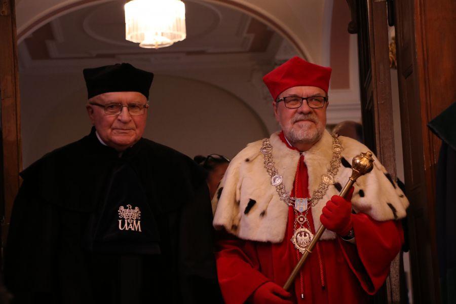 Zdjęcie - JMR prof. UAM dr hab. Andrzej Lesicki i  prof. Janusz Jurczak