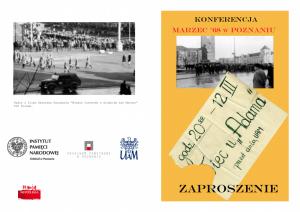"""""""Marzec '68 w Poznaniu"""" na UAM"""