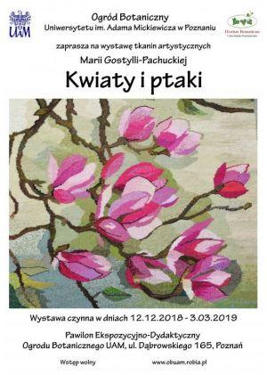Wystawa tkanin artystycznych w Ogrodzie Botanicznym UAM