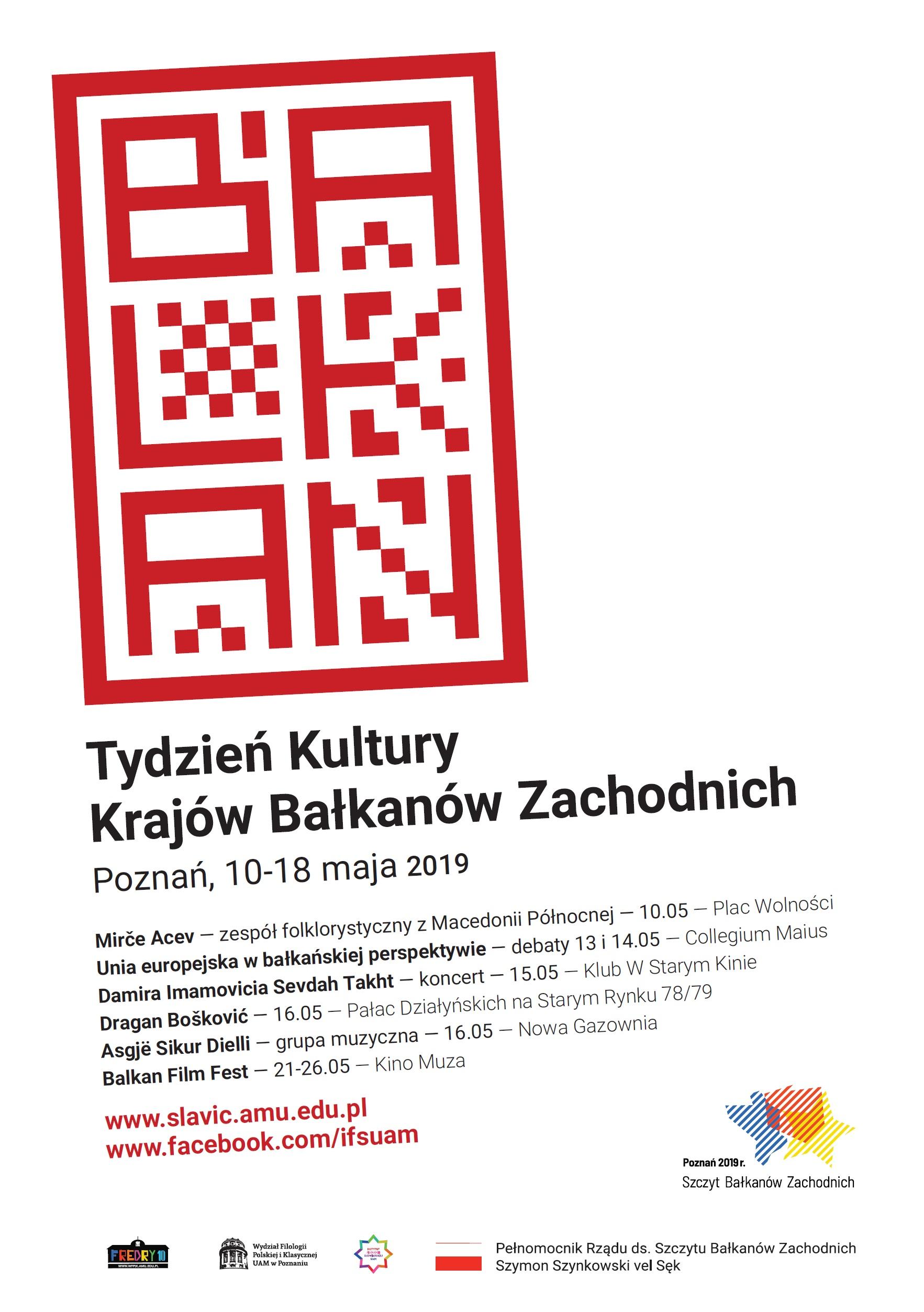 Program - Tydzień Kultury Krajów Bałkanów Zachodnich