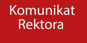 Komunikat Rektora - baner