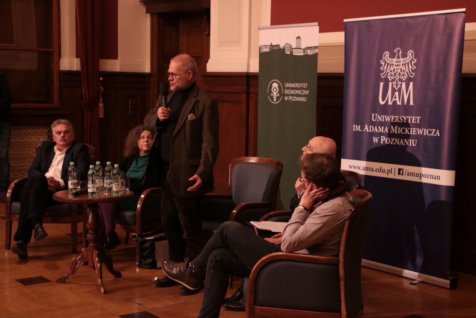 Moderator debaty, prof. Krzysztof Podemski