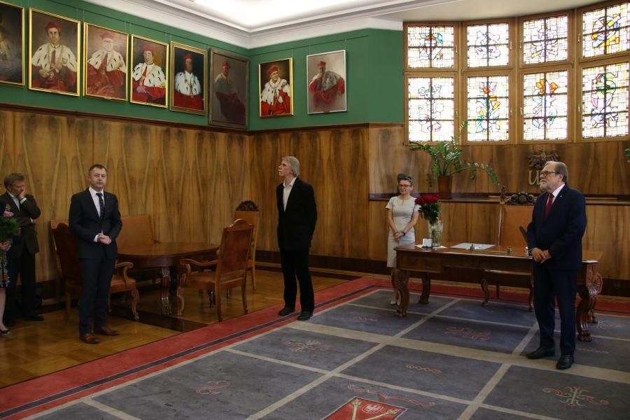 uroczystość w Gabinecie Rektora