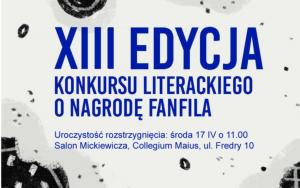 XIII edycja Konkursu Literackiego o Nagrodę FanFila