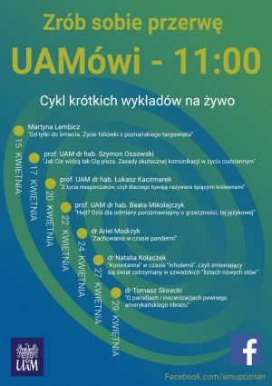 UAMówi - 11.00 w kwietniu