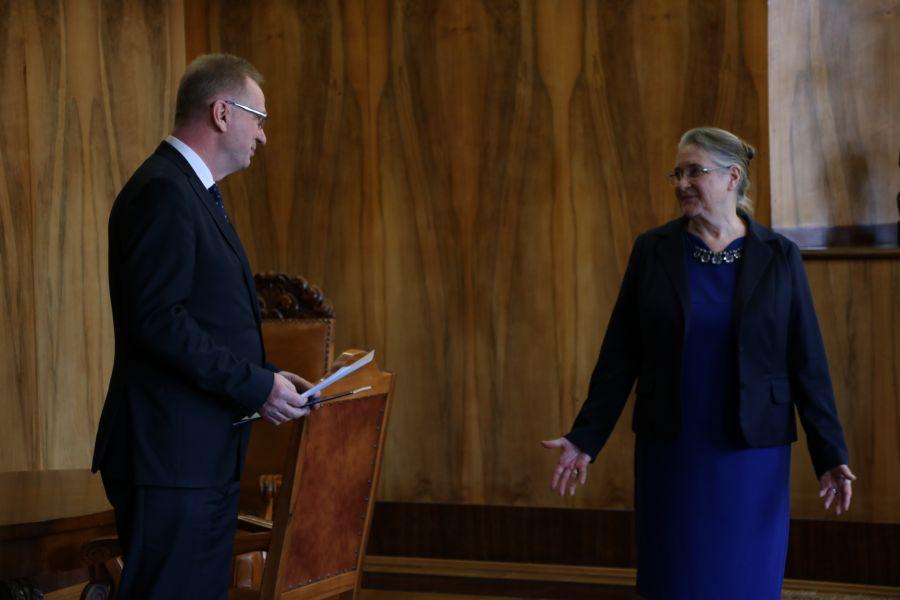 Medal Homini Vere Academico dla prof. Hanny Kóčki-Krenz