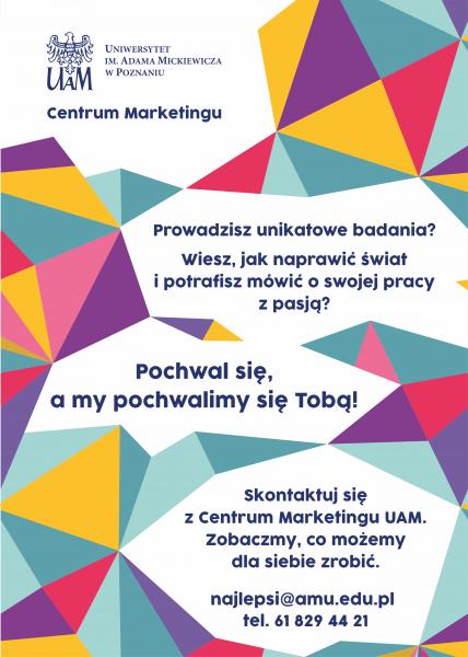 Plakat dla badaczy UAM