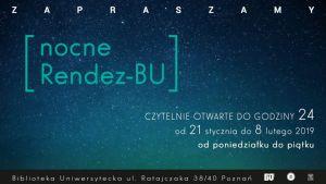 Biblioteka Uniwersytecka zaprasza na RendezBU