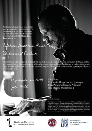 Koncert-prelekcja prof. Stana Breckenridge'a pt. African American Music
