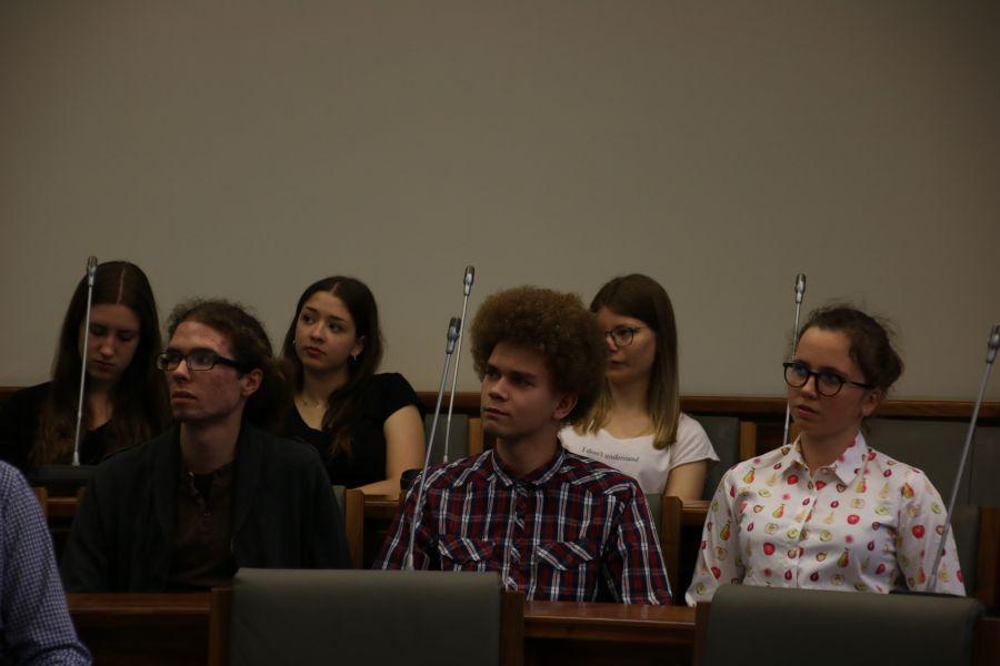 Spotkanie uczestników BESTStudentCAMP w Sali Senatu