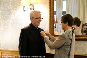 Krzyż Zasługi na Wstędze Orderu Zasługi Republiki Federalnej Niemiec dla Piotra Jankowiaka