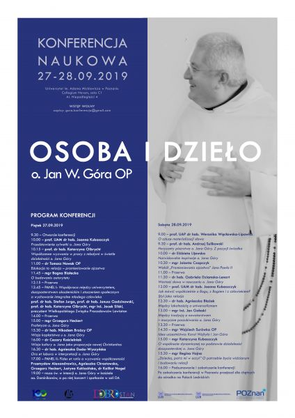 plakat konferencja Jan Góra