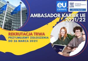Biuro Karier UAM poszukuje kandydatów na Studenckiego Ambasadora Karier UE