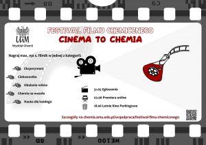 Weź udział w Ogólnopolskim Festiwalu Filmu Chemicznego CINEMA TO CHEMIA