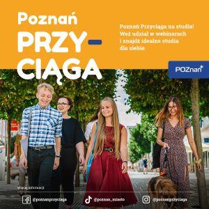 Zaproszenie na webinar w ramach projektu Poznań Przyciąga