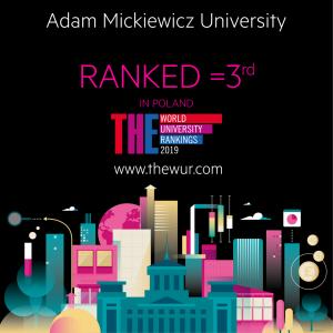 Uniwersytet im. Adama Mickiewicza w Poznaniu w prestiżowym rankingu Times Higher Education World University Rankings 2019