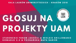 Zagłosuj na projekty UAM w konkursie o Laur Uniwersytecki