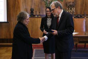 Medal Alumno Bene Merenti dla śp. doc. Zdzisławy Wójcik