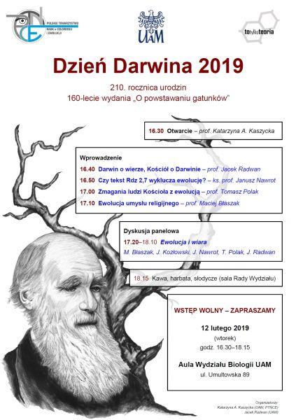 Dzień Darwina 2019 plakat