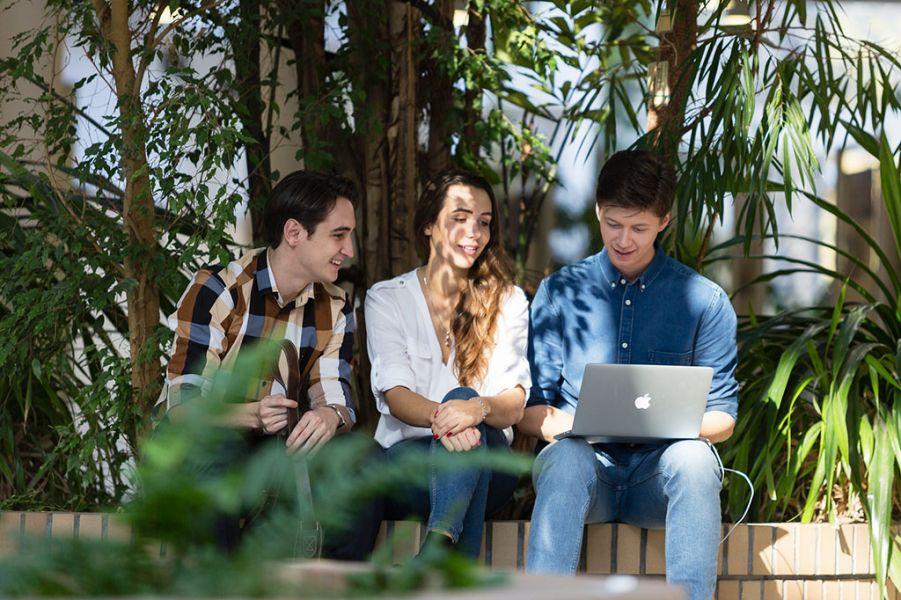 studenci przy komputerze