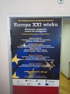 O Europie XXI wieku w Collegium Polonicum