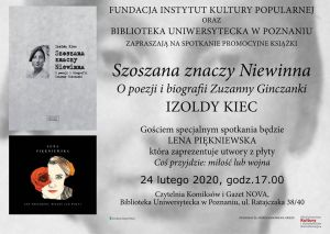 Promocja książki Izoldy Kiec w Bibliotece Uniwersyteckiej