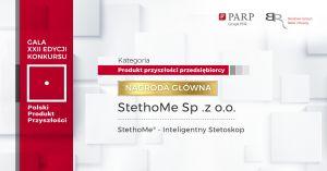 """Stworzony przez naukowców z UAM StethoMe """"Polskim Produktem Przyszłości"""""""