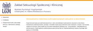 Pierwsze takie badania w Polsce seksuologów z UAM