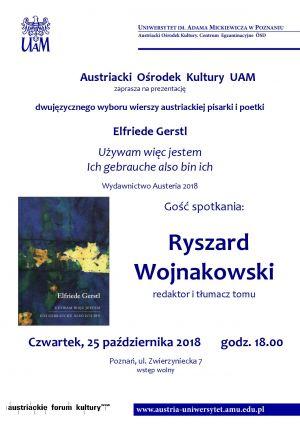 Prezentacja dwujęzycznego wyboru wierszy Elfriede Gerstl