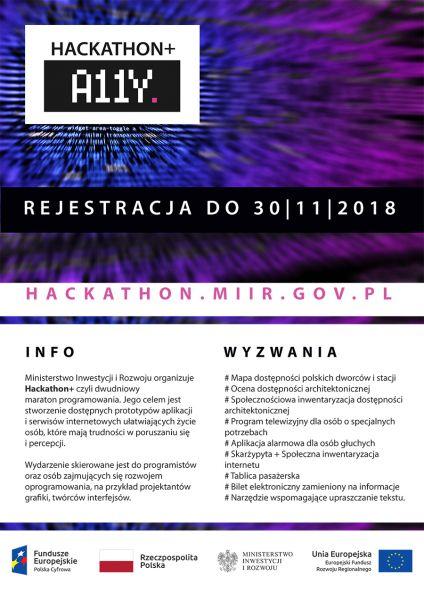 Plakat Hackaton+