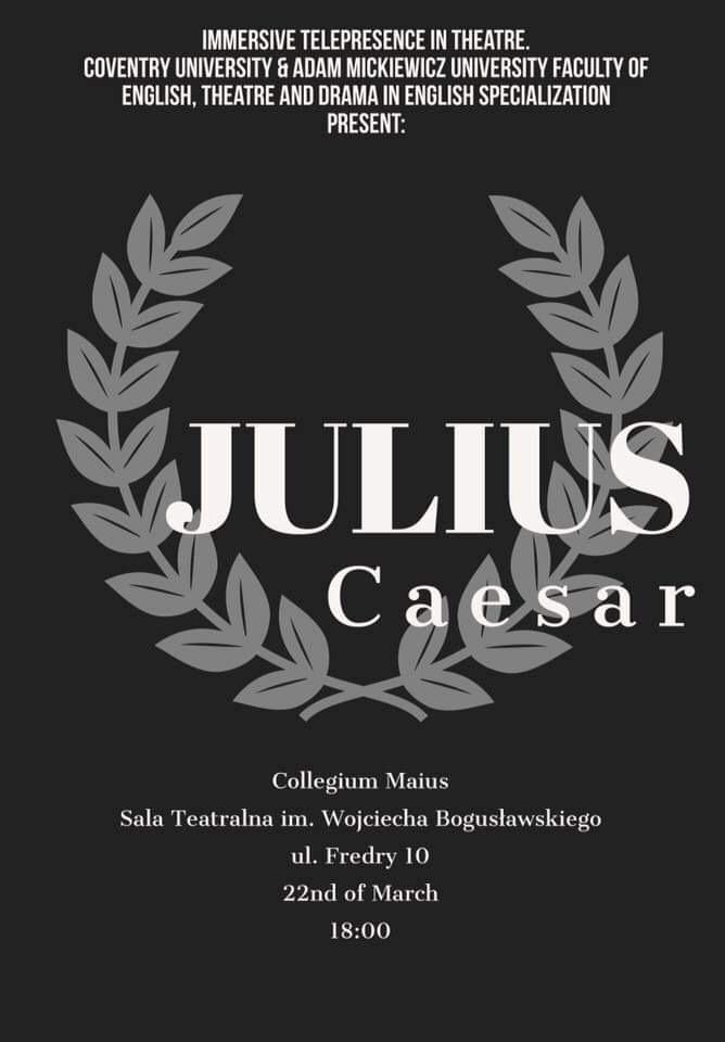 Plakat spektaklu Juliusz Cezar