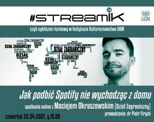 StreamIK - cykliczne rozmowy Instytutu Kulturoznawstwa UAM
