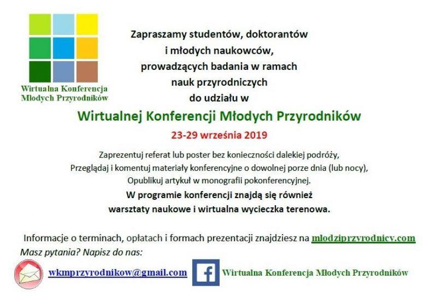 wirtualna konferencja młodych przyrodników